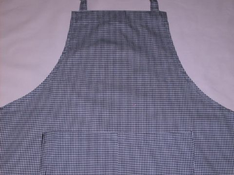 Adult Apron - Small Black & White Checked